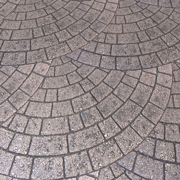 Brick Paving Circle Pattern Seamless Texture By Lucky