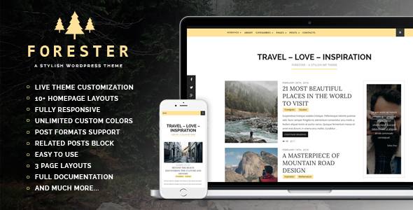 Forester – A Stylish WordPress Theme