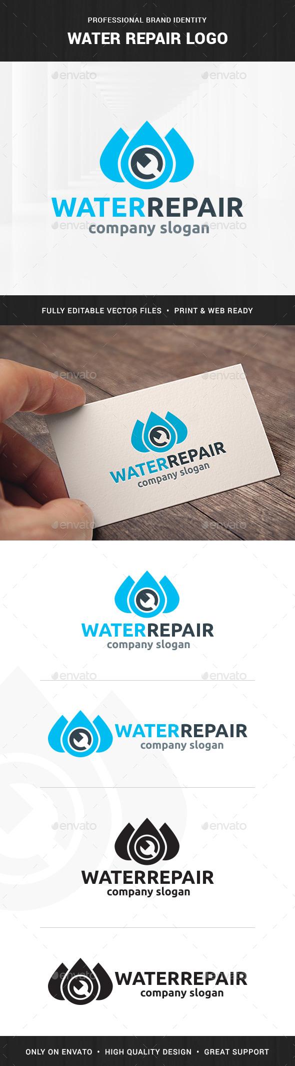 Water Repair / Plumber Logo - Symbols Logo Templates