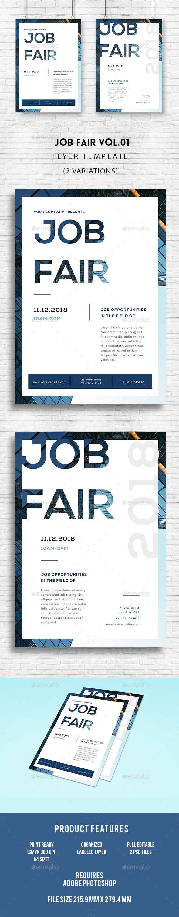 Job fair flyer by infinite78910 graphicriver for Job fair brochure template