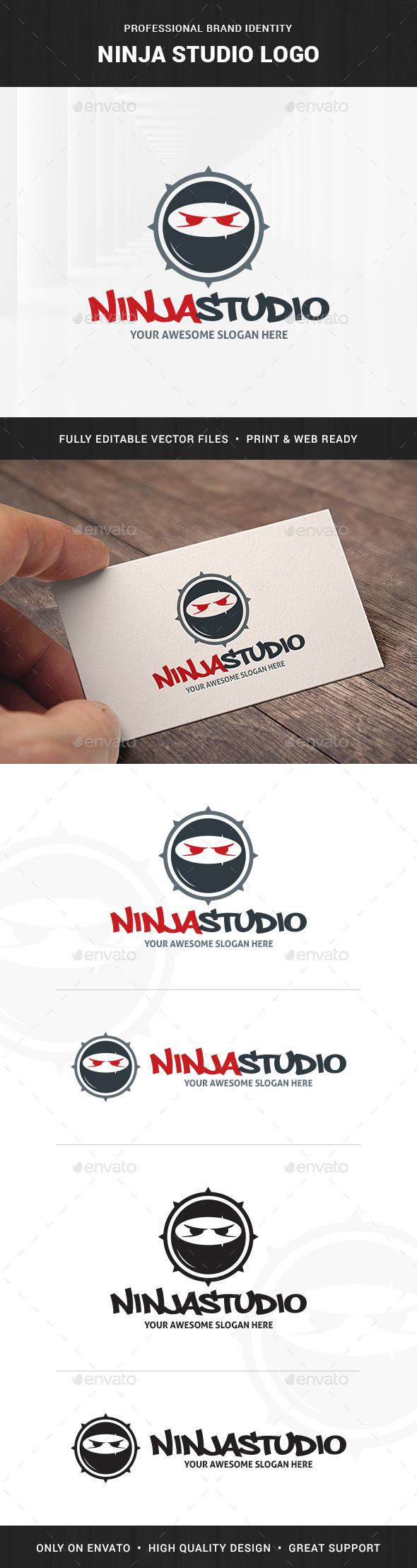 Ninja Studio Logo - Humans Logo Templates