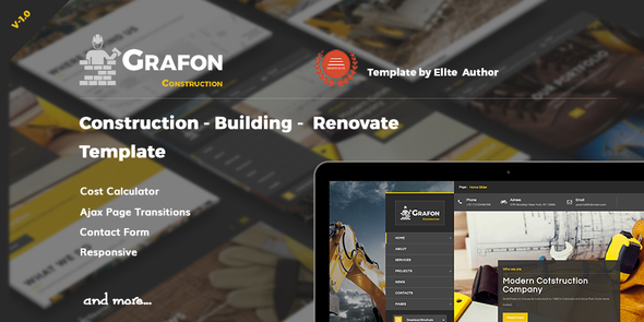 Grafon - Construction  Building Renovate Template - Business Corporate