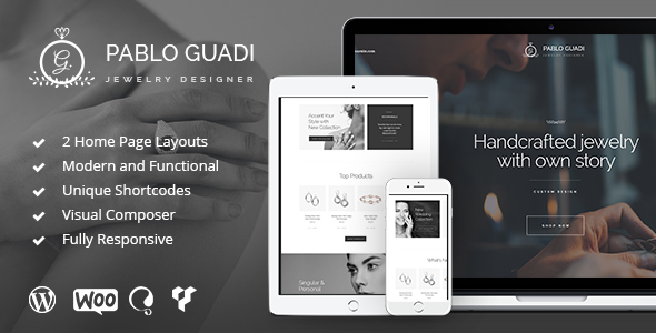 Pablo Guadi – Jewelry Designer & Handcrafted Jewelry Online Shop WP Theme