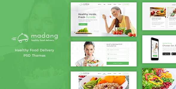 Madang – Healthy Food Delivery PSD
