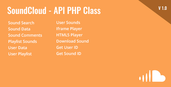 SoundCloud - API PHP Class - CodeCanyon Item for Sale
