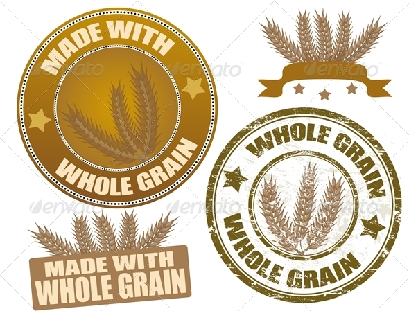 Set of whole grain stamps - Organic Objects Objects