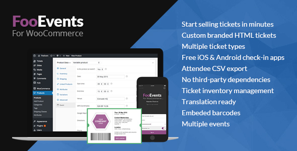 FooEvents for WooCommerce - CodeCanyon Item for Sale