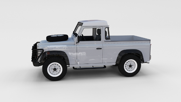 Full Land Rover Defender 90 Pick Up Seethrough - 3DOcean Item for Sale