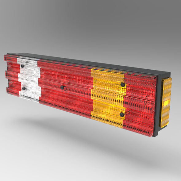 Truck Rear Light and Reflector - 3DOcean Item for Sale