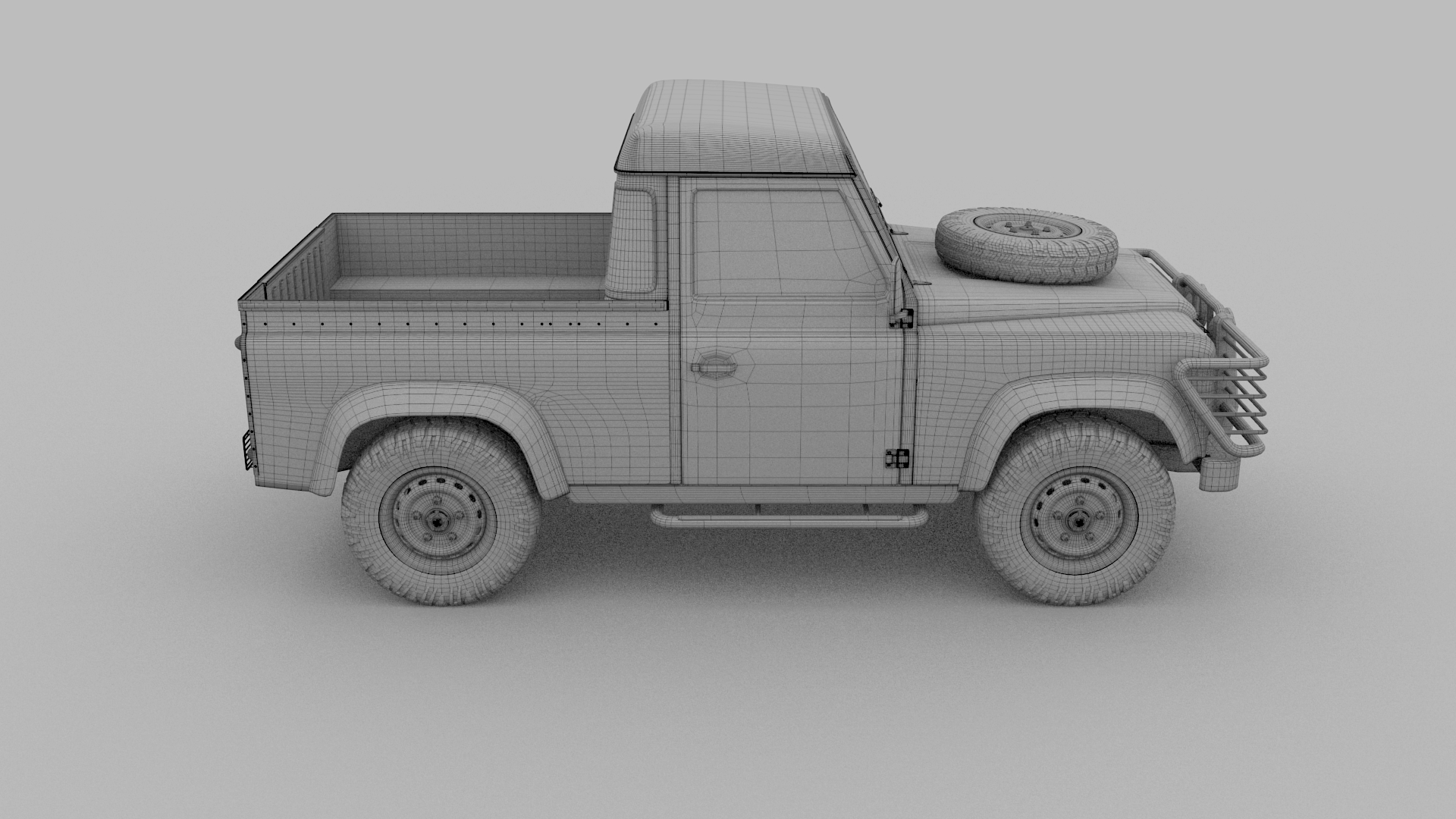 Land Rover Defender 90 Pick Up Rev By Dragosburian 3docean