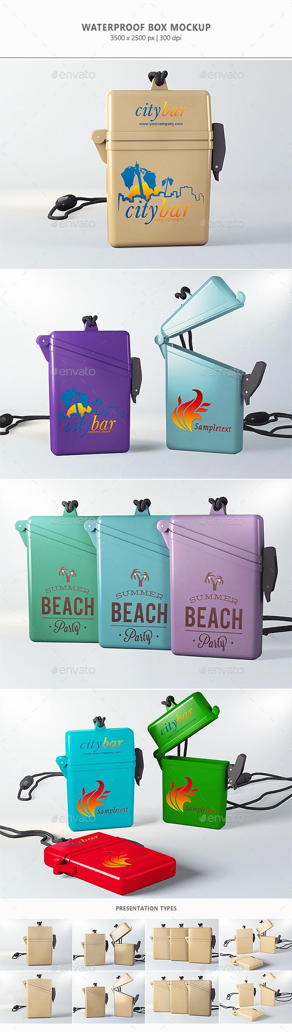 Waterproof Box Mock-up - Packaging Product Mock-Ups