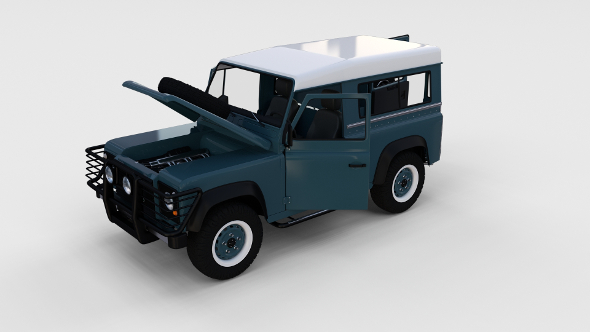 Full Land Rover Defender 90 Station Wagon rev - 3DOcean Item for Sale
