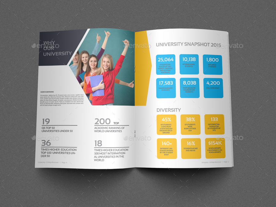 College Brochure | University College Brochure Template 16 Pages By Owpictures