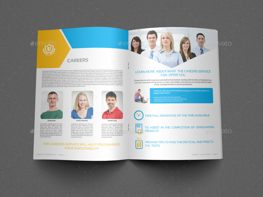University   College Brochure Template   16 Pages
