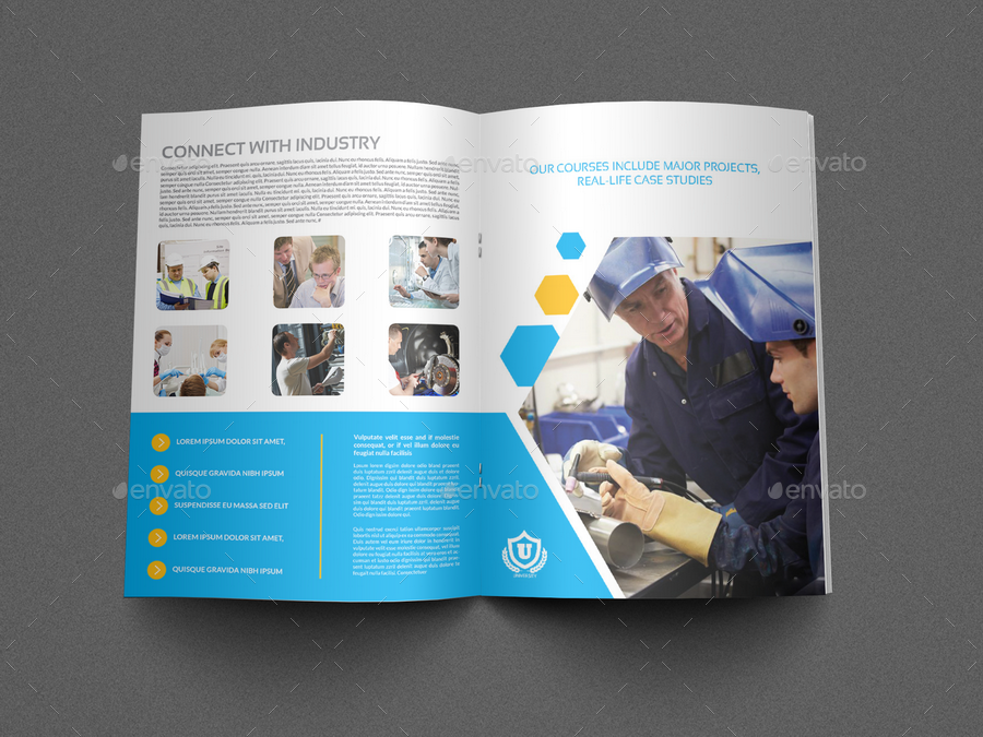 University College Brochure Template Pages By OWPictures - College brochure templates