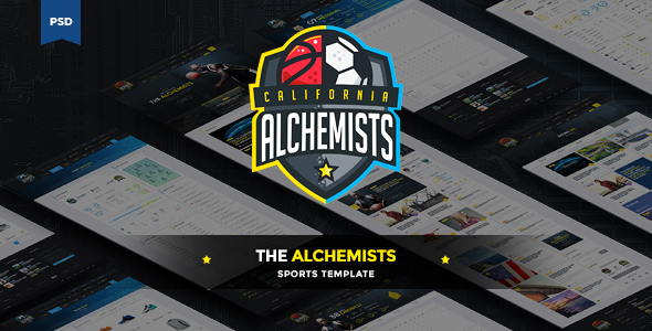 The Alchemists – Sports News PSD Template