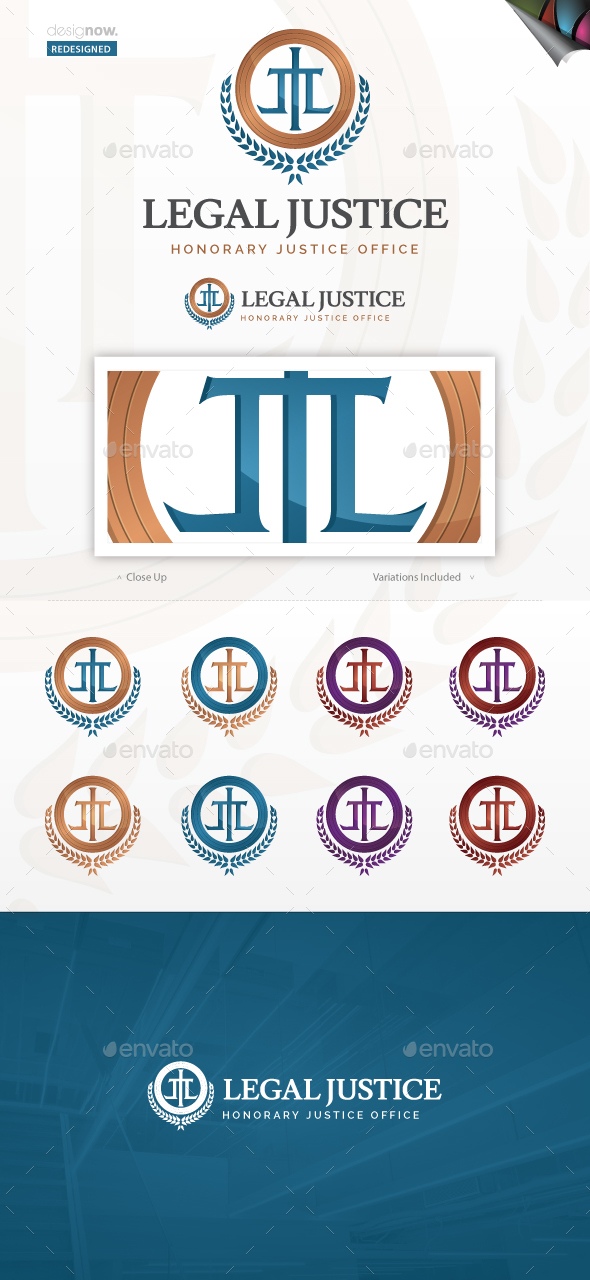 Legal Justice Logo - Vector Abstract