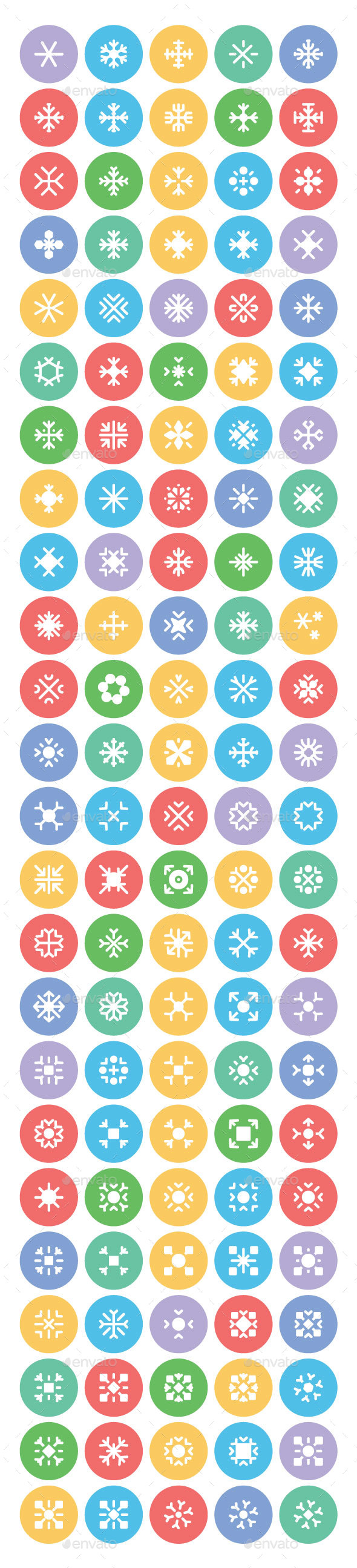 100+ Snow Flakes Vector Icons - Icons