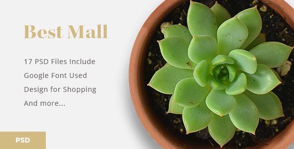 Bestmall – eCommerce PSD Template