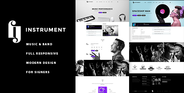 Instrument – Musicians, Deejays, Singers, Bands WordPress Theme