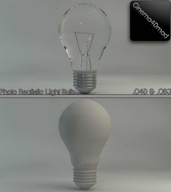 Light bulb (Photo realistic) - 3DOcean Item for Sale