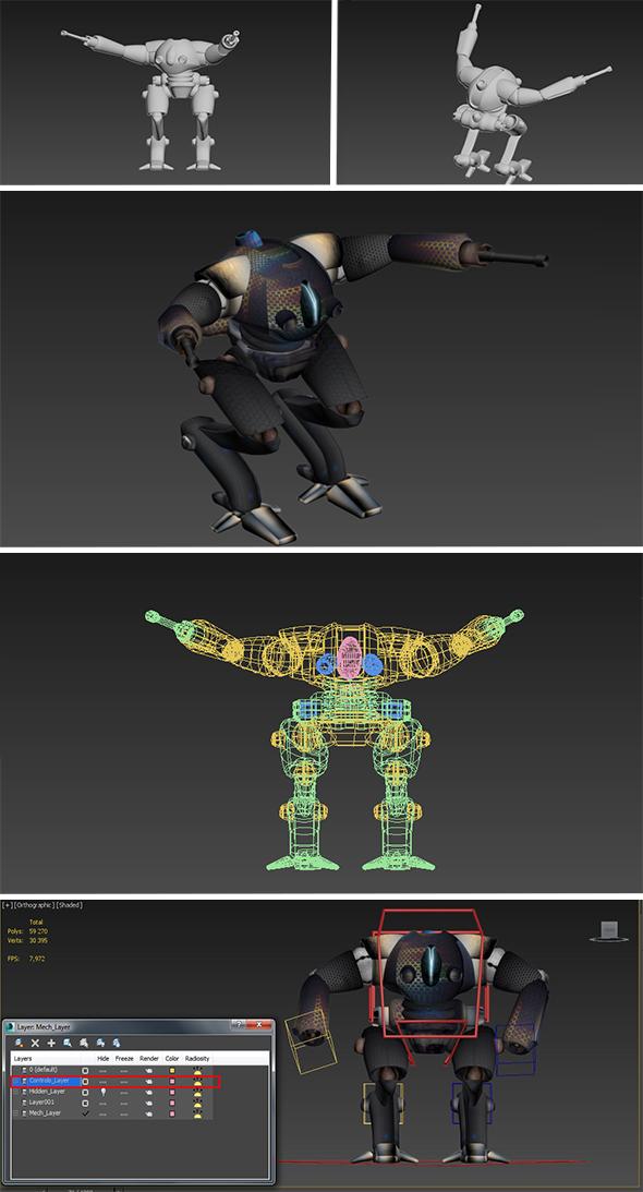 Robot Chapi - 3DOcean Item for Sale