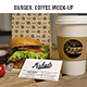 Burger Coffee Mockup - GraphicRiver Item for Sale