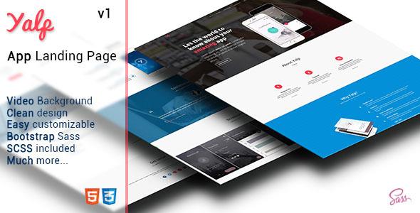 Yalp – App Landing Page