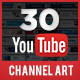 Youtube Channel Art - 30 Designs - GraphicRiver Item for Sale