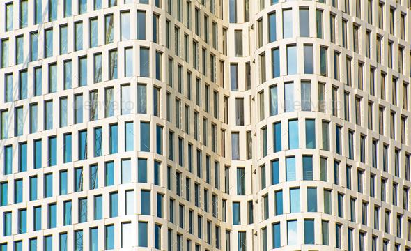 Facade of a modern skyscraper - Stock Photo - Images