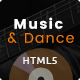 Music and Dance HTML5 Template Nulled