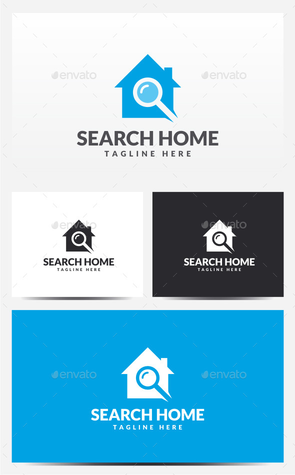 Search Home Logo - Buildings Logo Templates