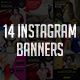 14 Instagram Banners - GraphicRiver Item for Sale