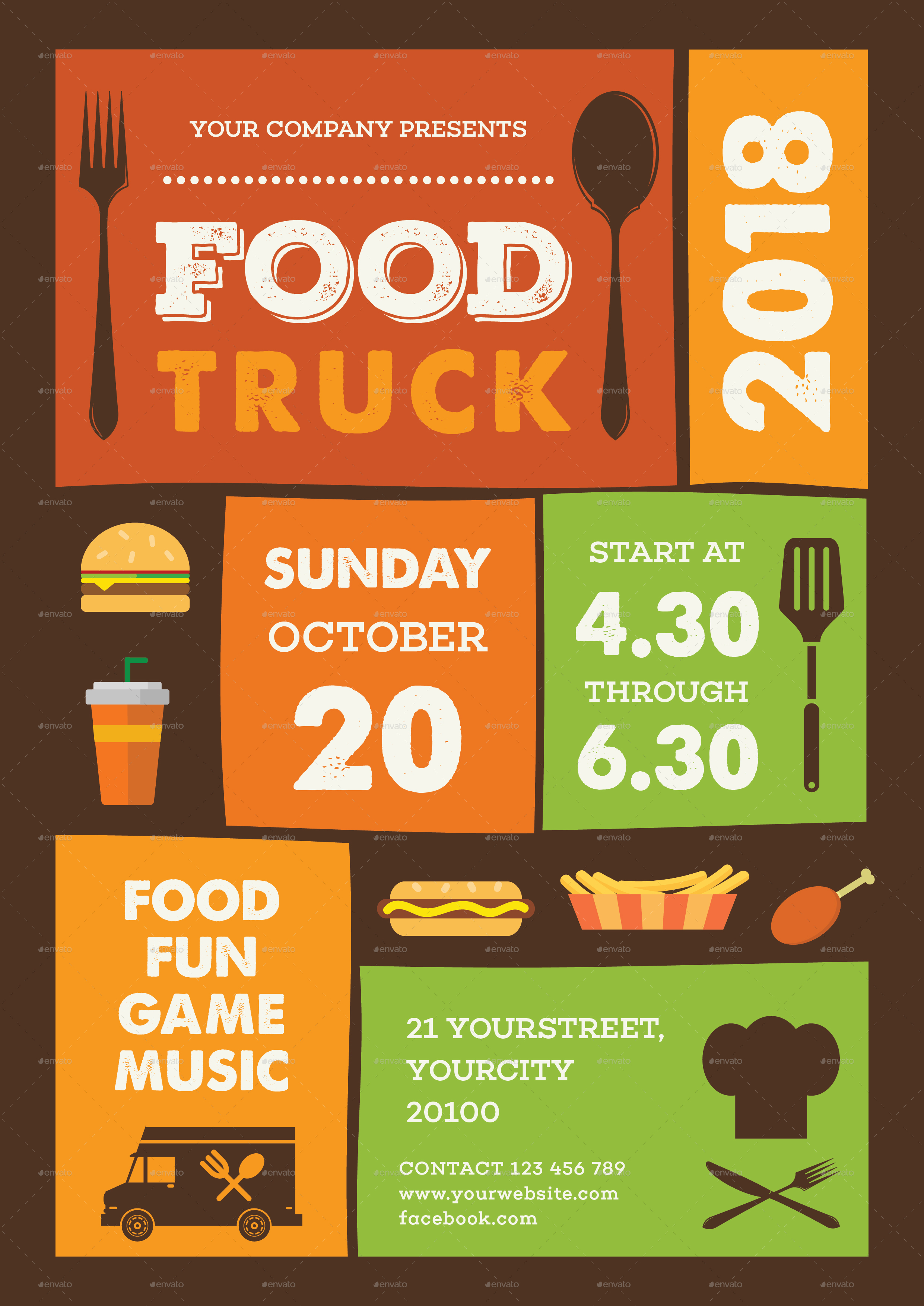 A Food Truck Flyers