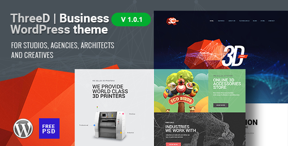 ThreeD | Business WordPress Theme for Studios, Agencies, Architects and Creatives