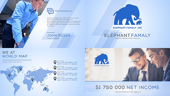 Clean business company profile by clean promo videohive flashek Image collections