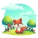 Fox In The Grass - a Childrens Cartoon - GraphicRiver Item for Sale