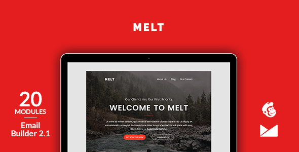 Melt Email Template + Online Emailbuilder 2.1 - Newsletters Email Templates