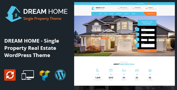 DREAM HOME- Single Property Real Estate WordPress Theme - Real Estate WordPress