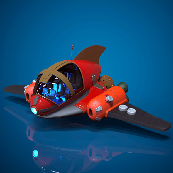 Cartoon Spaceship - 3DOcean Item for Sale