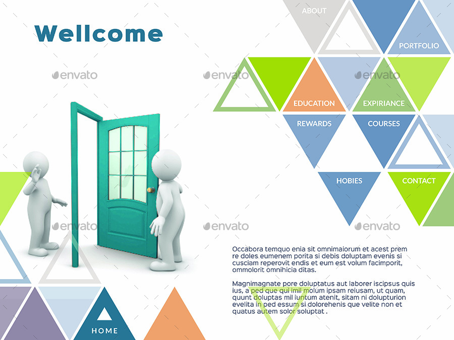 Interactive PDF Triangle Photographer Portfolio No8