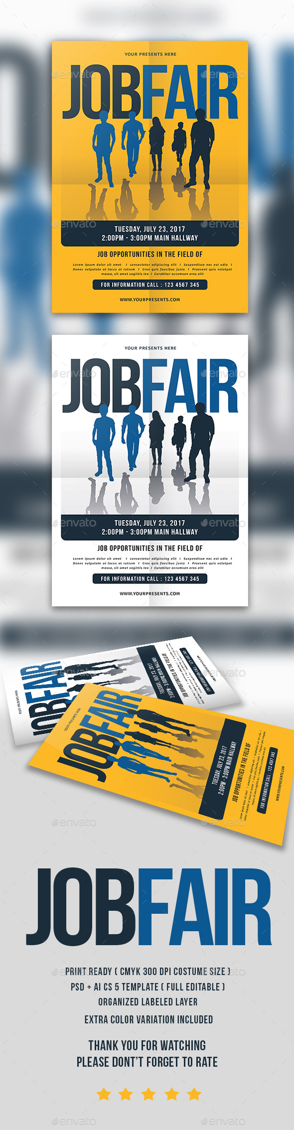 Job fair flyer by lilynthesweetpea graphicriver job fair flyer flyers print templates pronofoot35fo Gallery