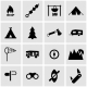 Vector Black Camping Icon Set - GraphicRiver Item for Sale