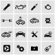 Vector Black Car Service Icon Set - GraphicRiver Item for Sale