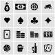 Vector Black Casino Icon Set - GraphicRiver Item for Sale