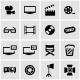 Vector Black Cinema Icon Set - GraphicRiver Item for Sale