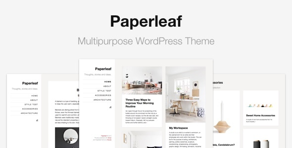 Paperleaf – Multipurpose Minimal WordPress Theme
