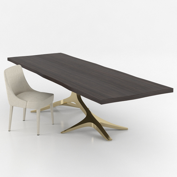 Hudson Rose Dining Table and Chair - 3DOcean Item for Sale