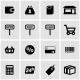 Vector Black Shop Icon Set - GraphicRiver Item for Sale