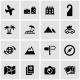 Vector Black Travel Icon Set - GraphicRiver Item for Sale